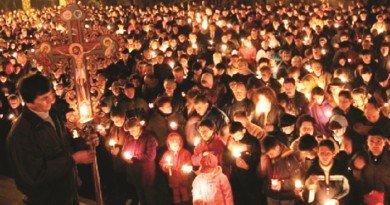 Sarbatoarea Pastelui, a fost celebrata, in acest an de ortodocsi, in prima zi a lunii mai.
